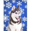 Caroline's Treasures Winter Snowflakes Holiday Alaskan Malamute House Vertical Flag