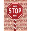 Caroline's Treasures Santa Claus Stop Here Stop Sign 2-Sided Garden Flag