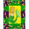 Caroline's Treasures Mardi Gras Mermaid 2-Sided Garden Flag