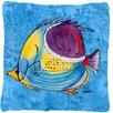 Caroline's Treasures Tropical Fish Indoor/Outdoor Throw Pillow