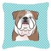 Caroline's Treasures Checkerboard English Bulldog Indoor/Outdoor Throw Pillow