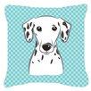 Caroline's Treasures Checkerboard Dalmatian Indoor/Outdoor Throw Pillow