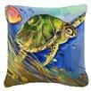 Caroline's Treasures Loggerhead Sea Turtle Indoor/Outdoor Throw Pillow