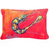 Caroline's Treasures Shrimp Seafood III Indoor/Outdoor Throw Pillow