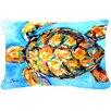 Caroline's Treasures Sand Dance Turtle Indoor/Outdoor Throw Pillow