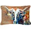 Caroline's Treasures On The Loose Cow Indoor/Outdoor Throw Pillow