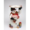 """Cosmos Gifts Snowman 18"""" Fig with Plate"""