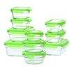 Glasslock Glasslock 20 Piece Green Lid Storage Container Set