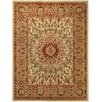Rugnur Pasha Maxy Home Medallion Traditional Ivory/Red Area Rug