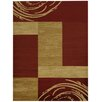 Rugnur Pasha Maxy Home Contemporary Boxes Red/Ivory Area Rug