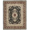 Darby Home Co Royalty Hand-Woven Black Area Rug