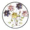 Charlton Home Circle Frame with Flowers Wall Decor