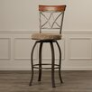 "Charlton Home Acworth 29"" Swivel Bar Stool with Cushion"