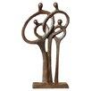Brayden Studio Middletown Family of 4 Ring of Love Figurine