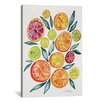 Brayden Studio Citrus Slices Artprint by Cat Coquillette Painting Print on Wrapped Canvas