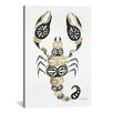 Brayden Studio 'Gold Black Scorpion' by Cat Coquillette Graphic Art on Wrapped Canvas