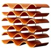Wade Logan Catlett 15 Bottle Wine Rack in Spiced Pumpkin