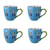 Grace's Tea Ware Dutch Wax 14 oz. Grace's Tea Ware Mug Set Blue Floral 4 Piece Set (Set of 4)