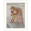 Millwork Engineering First Time on the Beach by Georgia Janisse Framed Painting Print