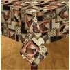 """Elrene Home Fashions Vintage Rooster 70"""" Round Vinyl Tablecloth"""