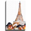 Bashian Home Paris in The Fall by Kelsey McNatt Painting Print on Canvas