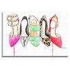 Bashian Home 'Shoe Collection' by Kelsey McNatt Painting Print on Canvas