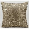 Nourison Laser Saray Laser Cut Leather Throw Pillow