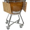 All-Pro KAMADO Stainless Steel Cart with Side Shelves