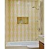 "Ark Showers 70"" x 30"" Semi-Frameless Pivot Bathtub Shower Screen with ClearShield Coating"