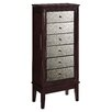 August Grove Ava Jewelry Armoire with Mirror
