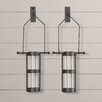 August Grove Wall Mount Hanging Cylinder Vase (Set of 2)