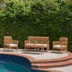 Beachcrest Home Cambria 4 Piece Deep Seating Group with Cushions