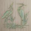 Beachcrest Home Osceola Double Heron Wall Décor