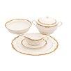 Shinepukur Ceramics USA, Inc. Ivy Bone China Special Serving 5 Piece Dinnerware Set