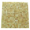 """Abolos Amber 0.63"""" x 0.63"""" Glass Mosaic Tile in Brushed Gold"""