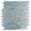 "Abolos Amber 0.63"" x 1.25"" Glass Mosaic Tile in Sky Blue"