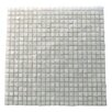 "Abolos Ecologic 0.38"" x 0.38"" Glass Mosaic Tile in White"