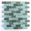 "Abolos Free Flow 1"" x 2"" Glass Mosaic Tile in Turquoise"