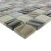 "Abolos New Era 1.25"" x 1.25"" Glass and Slate Mosaic Tile in Beach Sand"