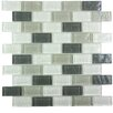 """Abolos Geo 1"""" x 2"""" Glass Mosaic Tile in Whistler"""