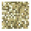 "Abolos Crystal Stone 0.63"" x 0.63"" Glass Mosaic Tile in Amber Grain"
