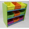 eHemco 3 Tier Storage Unit with 9 Removable Bins