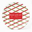 """Milo Gift Shop Holiday Trellis 10"""" Personalized Plate (Set of 4)"""