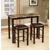 Roundhill Furniture Brando 3 Piece Counter Height Dining Set