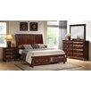 Roundhill Furniture Concord Storage Panel 4 Piece Bedroom Set