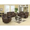 Roundhill Furniture Kmax 2 Piece Reclining Sofa and Loveseat Set
