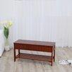 Roundhill Furniture Rennes Wood Storage Bench