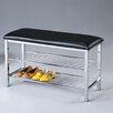 Roundhill Furniture Metal Shoe Bench