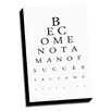 Picture it on Canvas Eye Charts Man of Value Inspired Textual Art on Wrapped Canvas