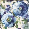 Midwest Art and Frame indigo Floral Gallery Painting Print on Wrapped Canvas